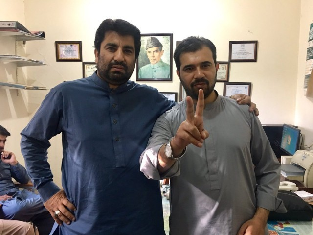 PTI's Qasim Khan Suri and Salar Khan. PHOTO: TWITTER/@QasimKhanSuri