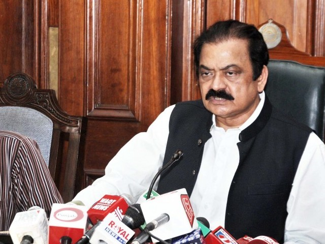 Law Minister Rana Sanaullah, in his resolution, said the opposition was becoming part of Indian propaganda  PHOTO:EXPRESS