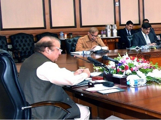 Prime Minister Nawaz Sharif chairs a meeting of the National Economic Council. PHOTO: APP