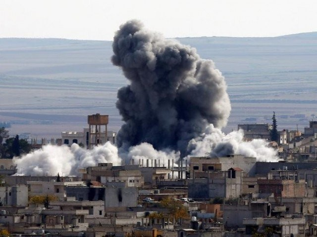 American missiles struck a Syrian airbase suspected of the chemical attack. PHOTO: REUTERS