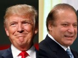 Trump reportedly told Sharif that he was pleased to meet him and the prime minister responded that the feeling was mutual. PHOTO: AFP/File