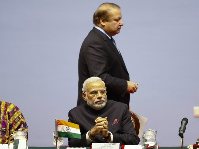 Prime Minister Nawaz Sharif and Indian Prime Minister Narendar Modi. PHOTO: AFP