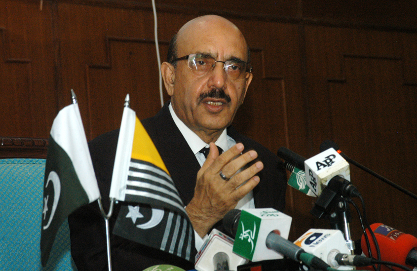 AJK President Sardar Masood Khan termed Indian objections over CPEC as fake and disingenuous. PHOTO: EXPRESS/FILE