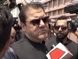 Prime Minister Nawaz Sharif's son Hussain Nawaz speaks to media outside Federal Judicial Academy in Islamabad where he appeared before the Joint Investigation Team probing the Panamagate case on Sunday, May 28, 2017. PHOTO: NNI