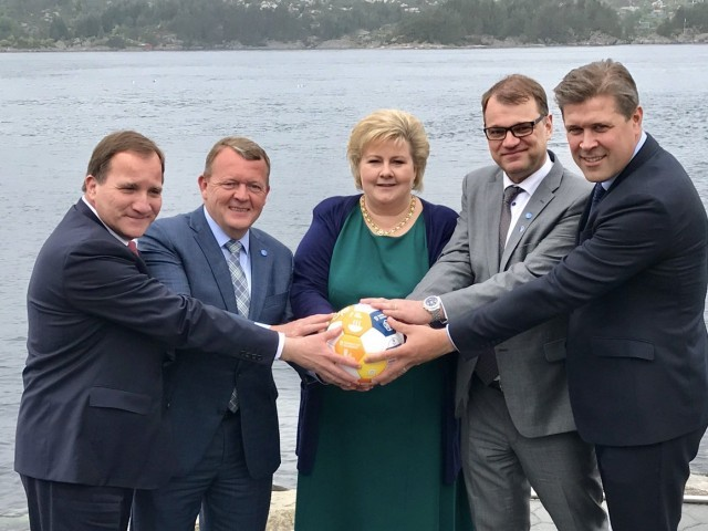 Nordic prime ministers troll Trump-Saudi glowing orb photo
