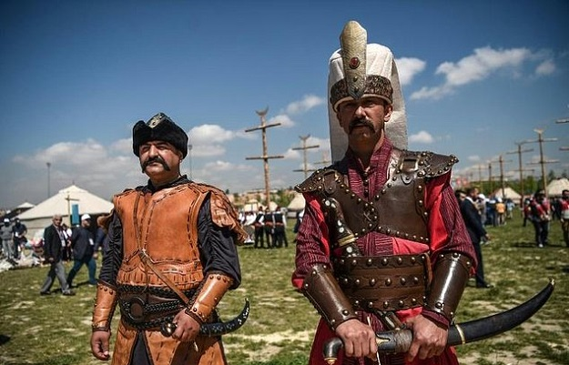The Turkish government aims to celebrate the glory days of the Ottoman empire with the festival. PHOTO: AFP