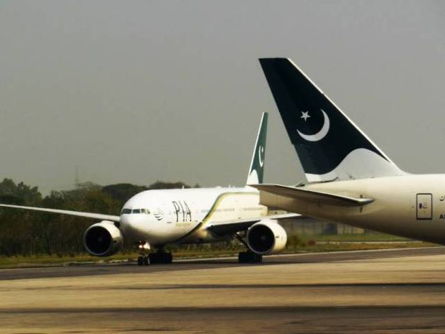 Pakistan International Airline carriers. PHOTO: FAISAL MOIN/EXPRESS