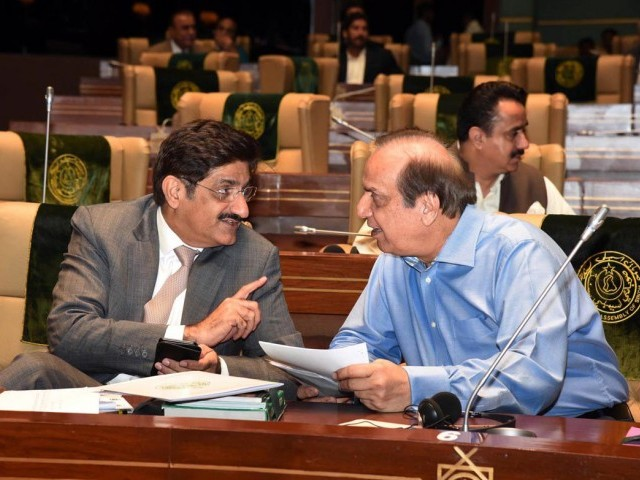 Chief Minister Murad Ali Shah has been criticised for not incorporating opposition members' concerns and suggestions in the budget. PHOTO: ONLINE