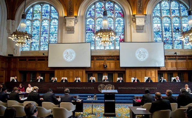 International Court of Justice holds hearing of the case. PHOTO: ICJ