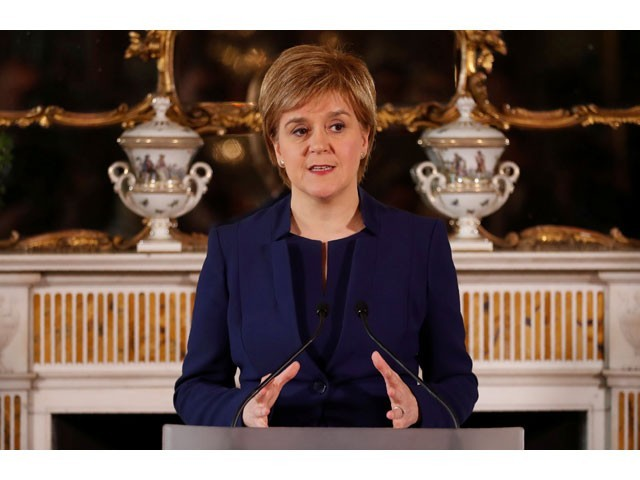 Scottish leader Sturgeon says will work to keep Conservatives out of power
