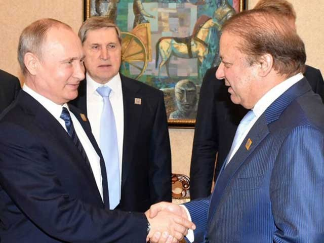Nawaz Sharif, Modi exchange greetings at SCO summit