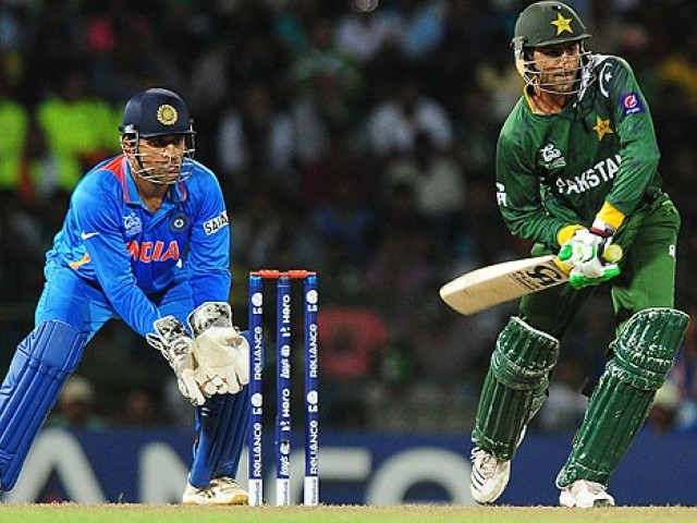 A file photo of a cricket match between Pakistan and India. PHOTO: AFP