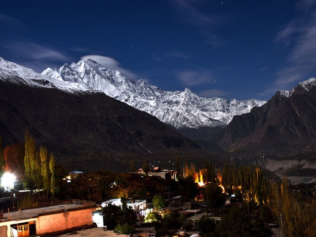 HUnza Valley in moon light. PHOTO: EXPRESS