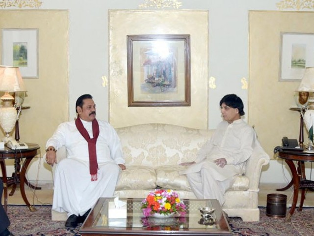 Regional affairs: Pakistan, Sri Lanka face similar challenges: Nisar