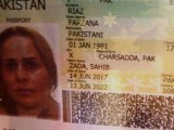 A picture of Farzana's passport. PHOTO: EXPRESS