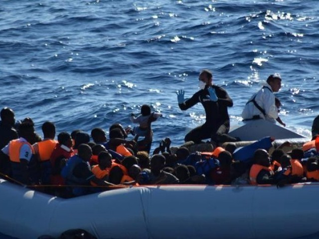 Irish naval ship rescues over 700 migrants off Libyan coast
