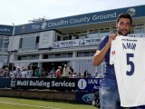 Amir trapped Middlesex Nick Gubbins lbw as the latest round of county championship matches got underway on Monday.PHOTO:ESSEX CRICKET TWITTER ACCOUNT