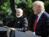 President Donald Trump holds a joint news conference with Indian Prime Minister Narendra Modi in the Rose Garden of the White House in Washington. PHOTO: REUTERS