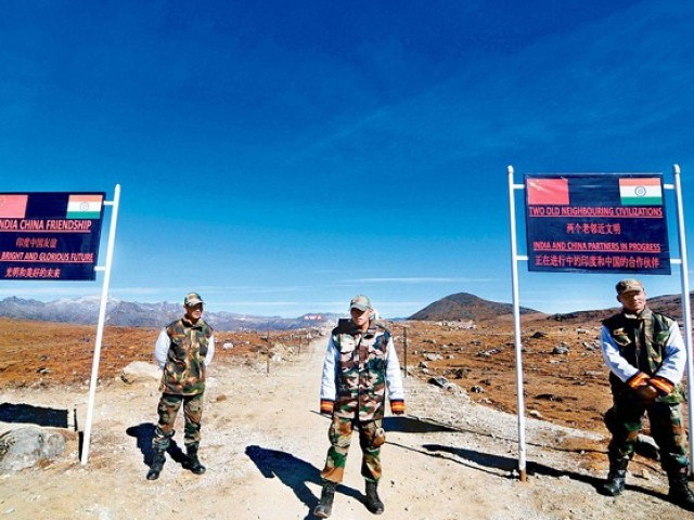 Indian Army personnel keep vigil at the India-China border in Arunachal Pradesh. PHOTO: AFP