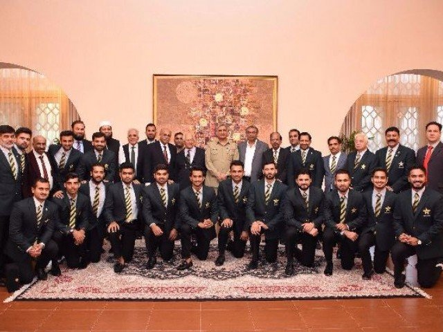 Stay humble and continue working hard, army chief tells winning cricket team