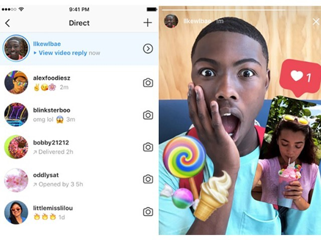 You can now reply to Instagram stories with a photo or video