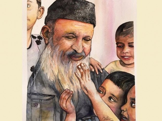 Abdul sattar edhi. PHOTO: EXPRESS