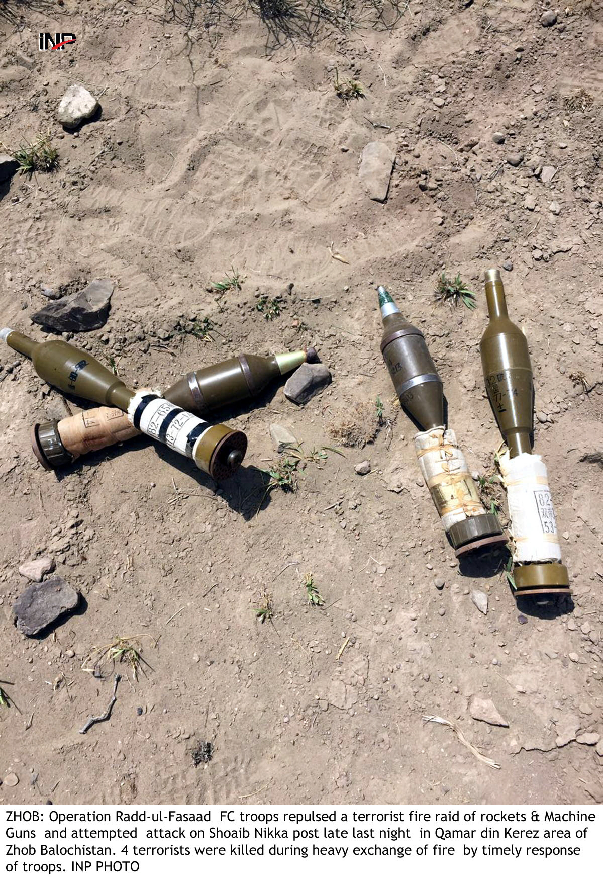 attack foiled four terrorists killed in zhob