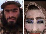 In photos released by the Iraqi army after his capture, the man can be seen to have slathered on powder, eyeshadow and lipstick, even adding some beauty spots.PHOTO:MAIL ONLINE