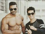 Social media users say the victim (pictured left) was Naveed Pathan, a bodybuilder. PHOTO: Twitter