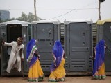 Bihar district magistrate allegedly tells a villager during an awareness campaign for building toilets at homes. PHOTO: REUTERS