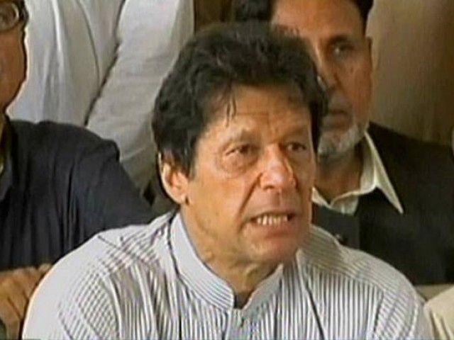 Imran Khan. AN EXPRESS NEWS SCREENGRAB