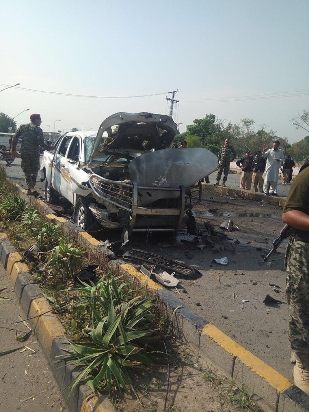 Blast occurred in the early hours of Monday. PHOTO: EXPRESS