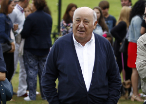 In this July 30, 2016 photo, Amancio Ortega Gaona, founding shareholder of Inditex fashion group, best known for its chain of Zara clothing and accessories retail shops, walks during the Casas Novas International Jumping Show in Arteixo, A Coruña, in the Galicia region of northwest Spain.