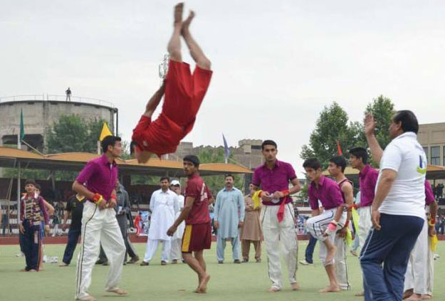 A sports event at Qayyum Sports Complex, Peshawar. PHOTO: EXPRESS