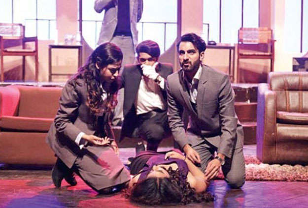 Beaconhouse National University students during a theatre performance. PHOTO: EXPRESS