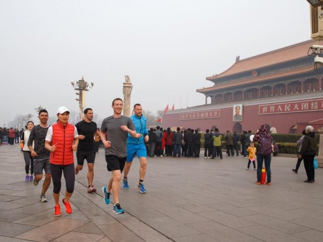 Facebook chief and co-founder Mark Zuckerberg has made high-profile visits to China. PHOTO COURTESY: MARK ZUCKERBERG/FACEBOOK