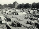 A camp for displaced Indian Muslims next to Humayun's Tomb in New Delhi, during the period of unrest following the Partition of India and Pakistan. PHOTO: AFP