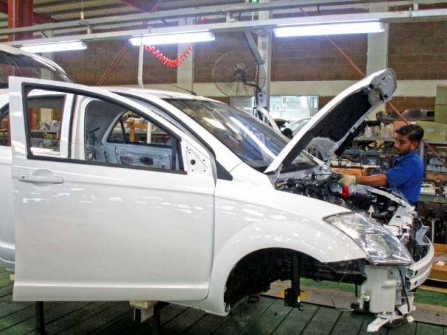 The company has recently invested Rs1.3 billion to improve its assembly plant, which is other than its initial investment of Rs2.5 billion. PHOTO: FARHAN ZAHEER/EXPRESS