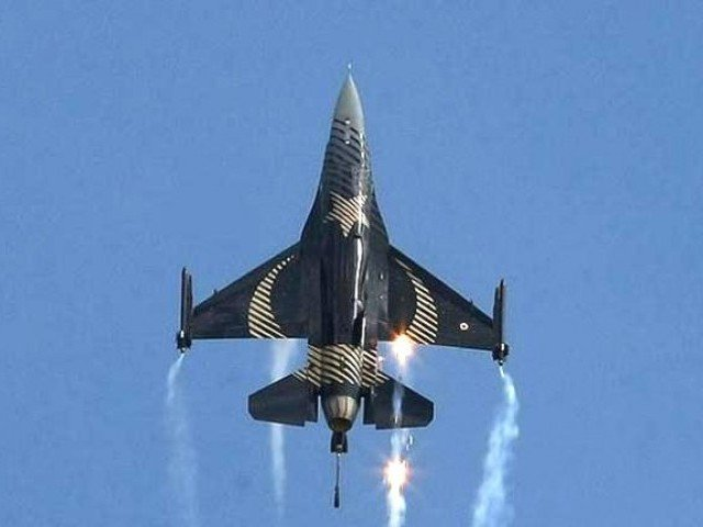 A Solo Turk F-16 in action. PHOTO: CNNTurk
