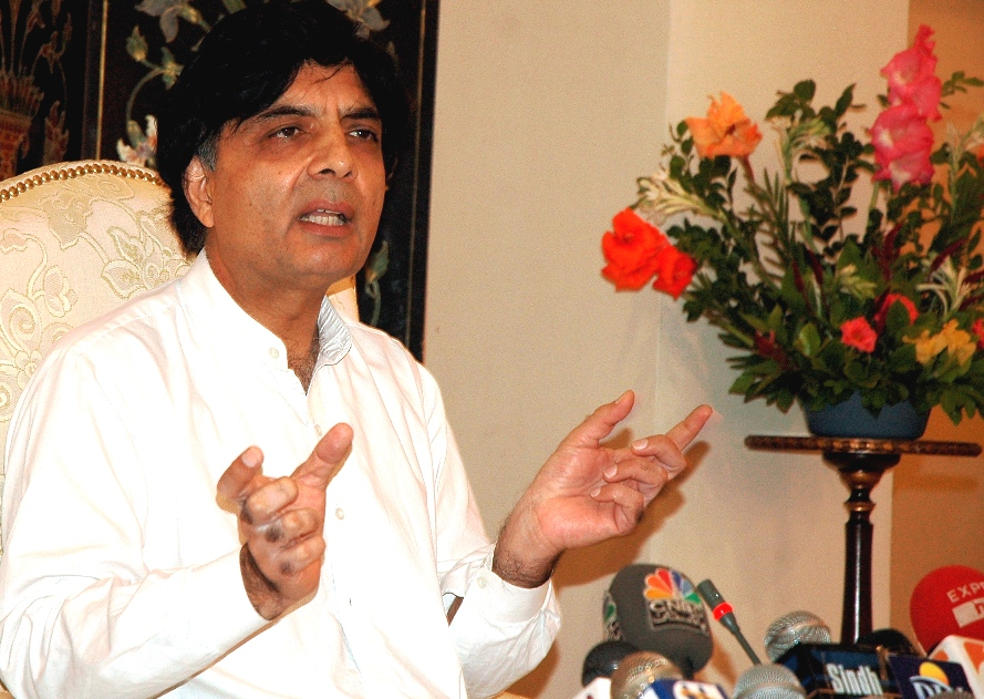 Chaudry Nisar Ali Khan. PHOTO: EXPRESS