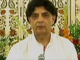 Former interior minister Chaudhry Nisar Ali Khan addressing a press conference in Islamabad on Sunday, August 20, 2017. EXPRESS NEWS SCREENGRAB