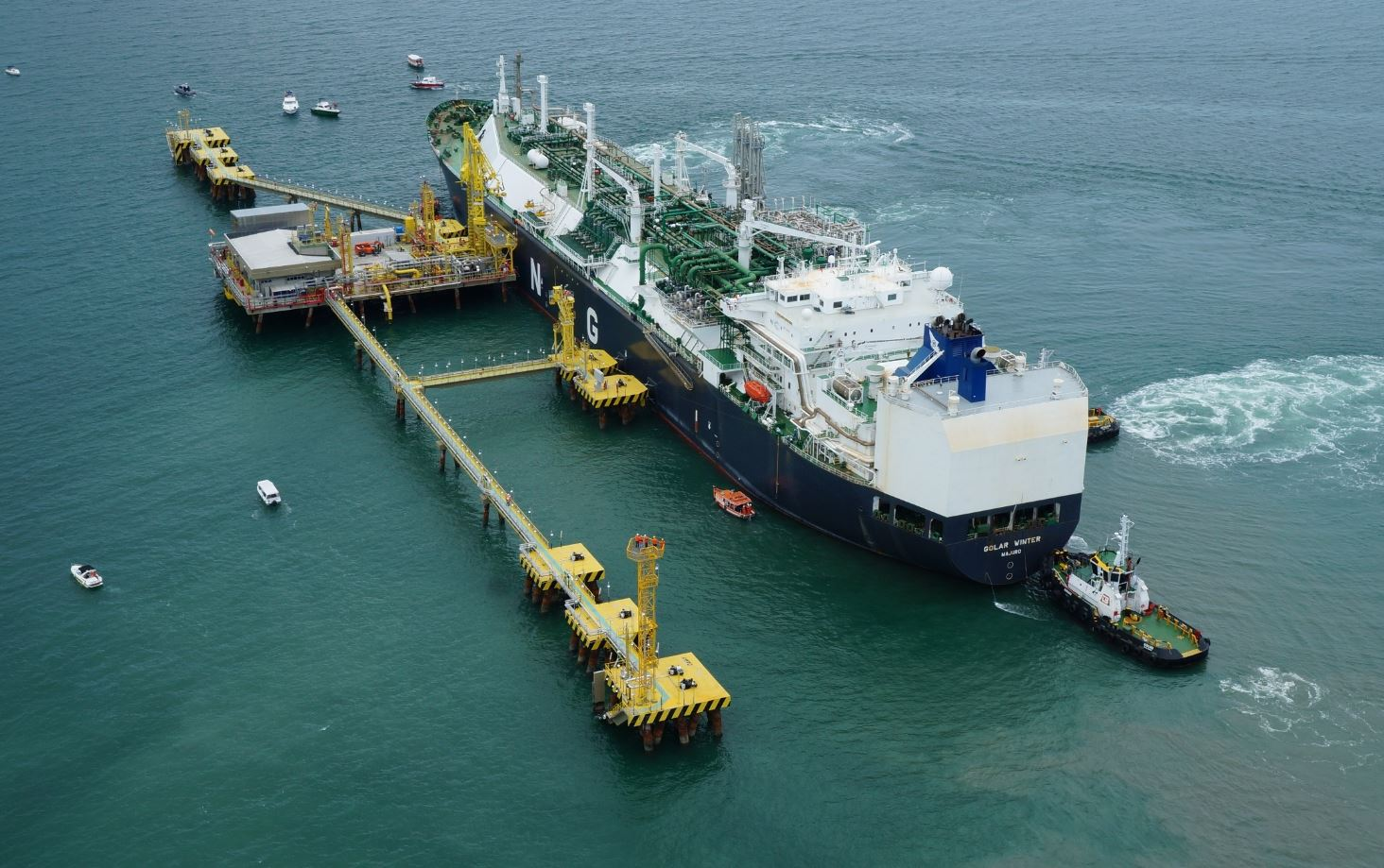 LNG Terminal. PHOTO: REUTERS
