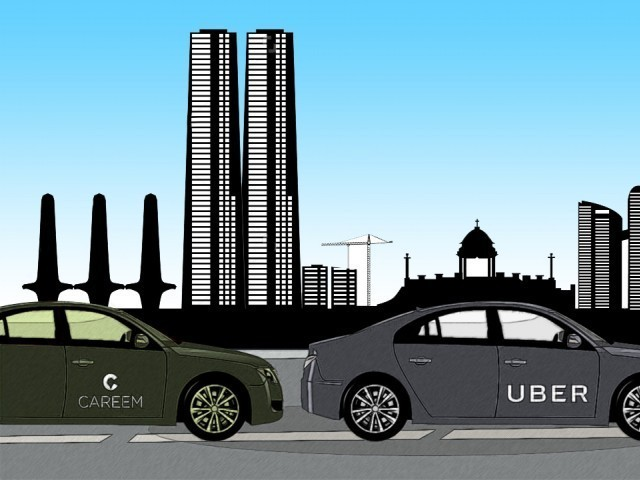 Vehicles working with Uber, Careem may be required to display stickers identifying the. PHOTO: CREATIVE COMMONS