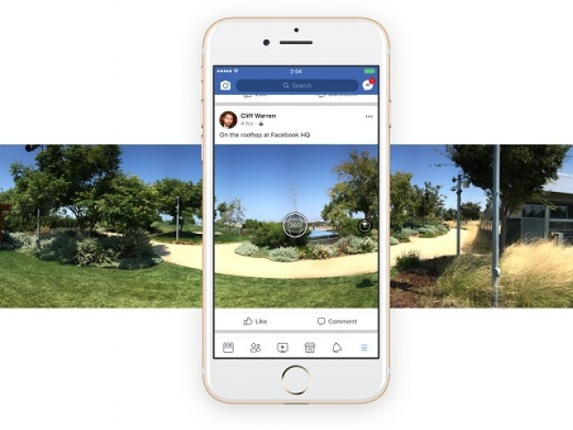 Facebook's mobile apps now take 360-degree photos