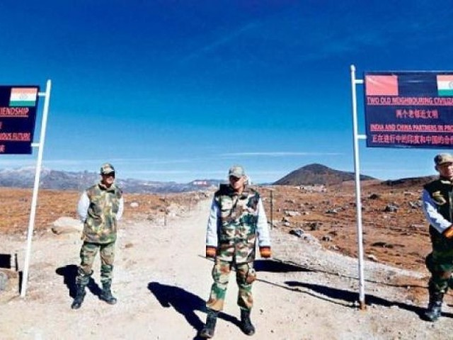 Chinese troops started building a road in the area, which is disputed between both countries ally, Bhutan. PHOTO: AFP