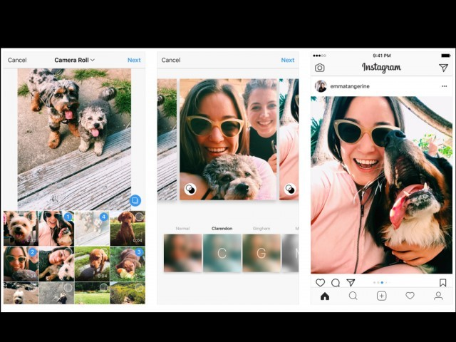 Instagram now allows portrait, landscape photos in albums