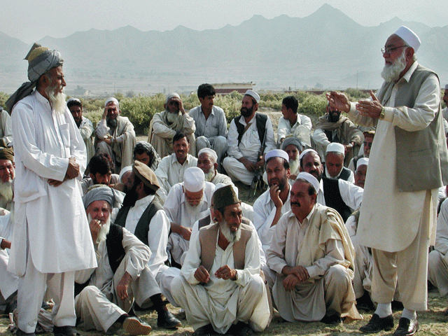 Jirga vows to support govt efforts against militants. PHOTO: FILE