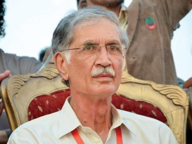 K-P Chief Minister Pervez Khattak on Tuesday approves a summary. PHOTO: FILE