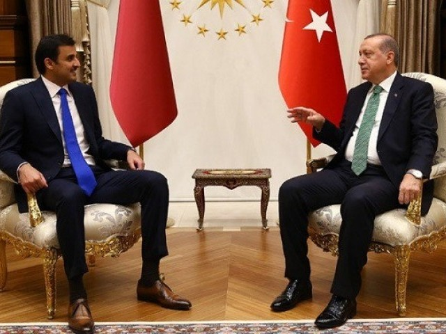 Erdoğan, Qatari sheikh reiterate will to resolve Gulf crisis through diplomacy
