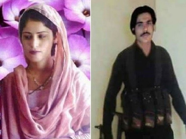 Tania Khaskheli and her suspected murderer Khanu Noohani. PHOTO: Facebook